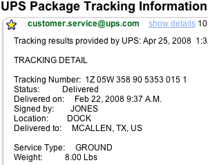 Get Instant, Up-to-Date Package Status via Email