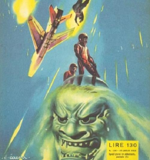 Scariest Giant Heads From Science Fiction Book Covers