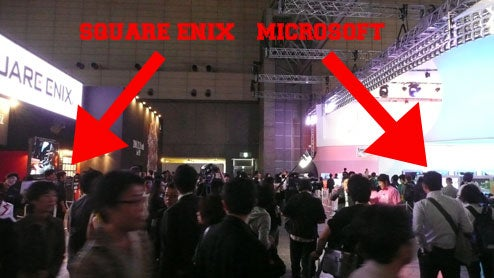 So Just How Close ARE The Microsoft & Square Enix Booths?