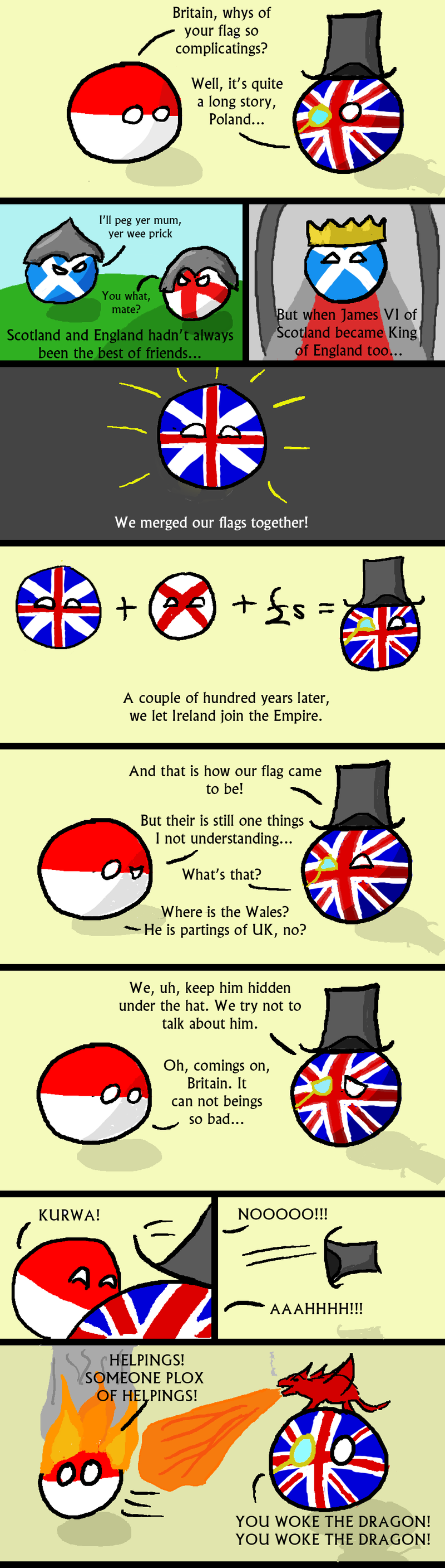 Daily Polandball: The British Flag.