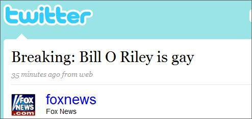 Fox News Twitter Hacked By Bill O'Reilly