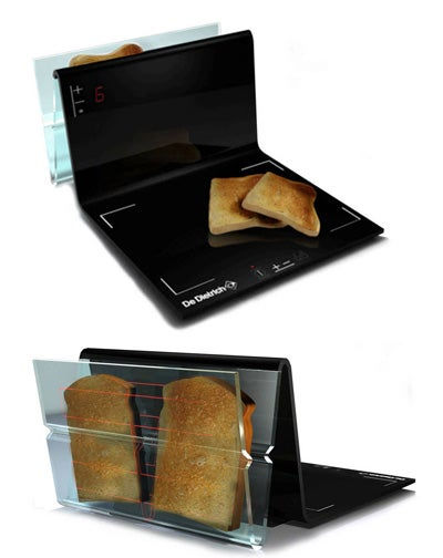 V-Line Toaster and Induction Cooker Makes a High-Tech Breakfast