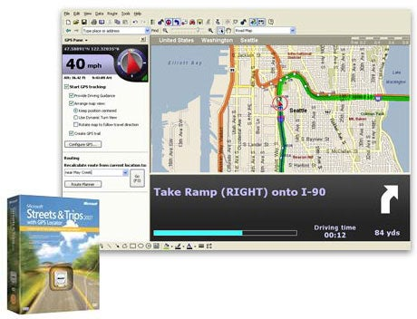 Microsoft Streets and Trips 2007, With Improved GPS Receiver