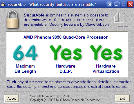SecureAble Tells You if Your Processor Will Support Windows 7's XP Mode