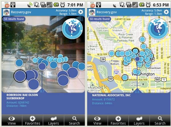 Augmented Reality iPhone/Android App Tracks Where Government Bailout Dollars Went