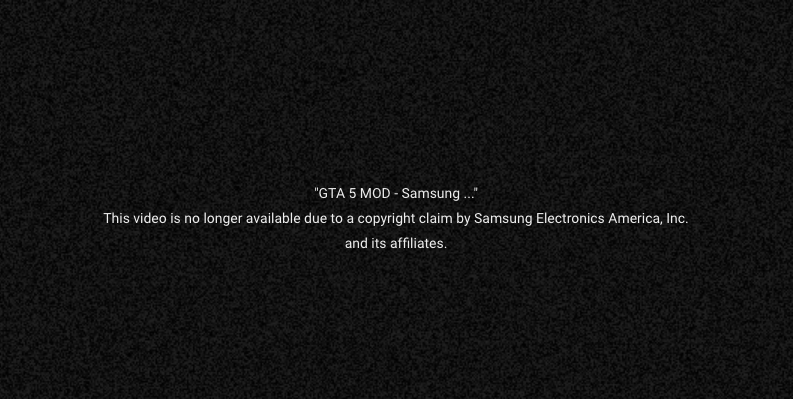 Samsung Doesn't Think That GTA Mod Is Very Funny