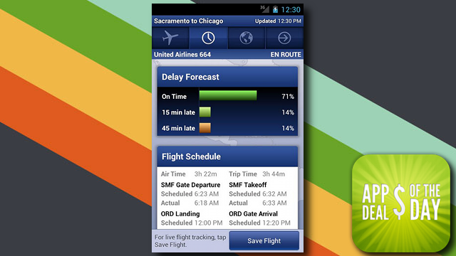Daily App Deals: Get FlightTrack for Android for Only 10¢ in Today's App Deals