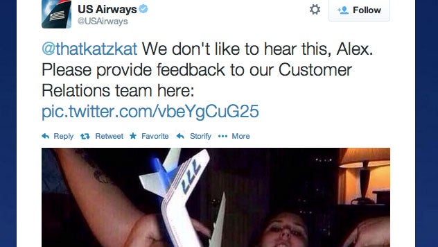 US Airways Tweets Out Photo Of Model Airplane In Woman's Vagina [NSFW]