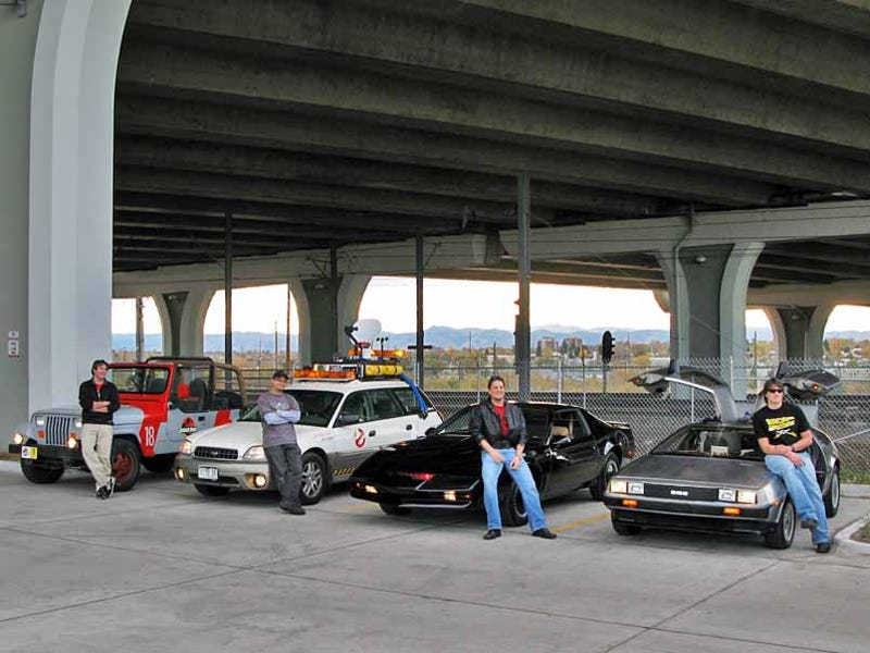 Foursome Of Movie Cars Creates Novelty Car Dork Convention