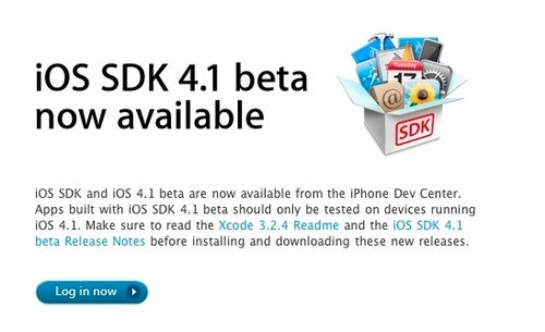 iOS 4.1 Beta Is Available Now For Developers