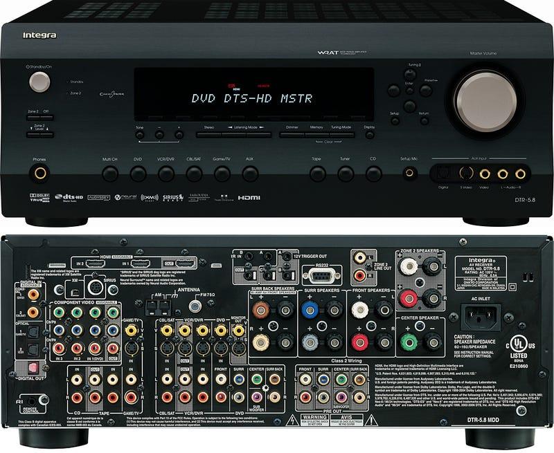 Integra Ships DTR-5.8 Receiver with HDMI 1.3a