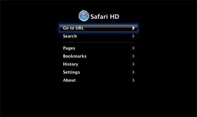 Web Browse on Apple TV With Safari HD, Out Now