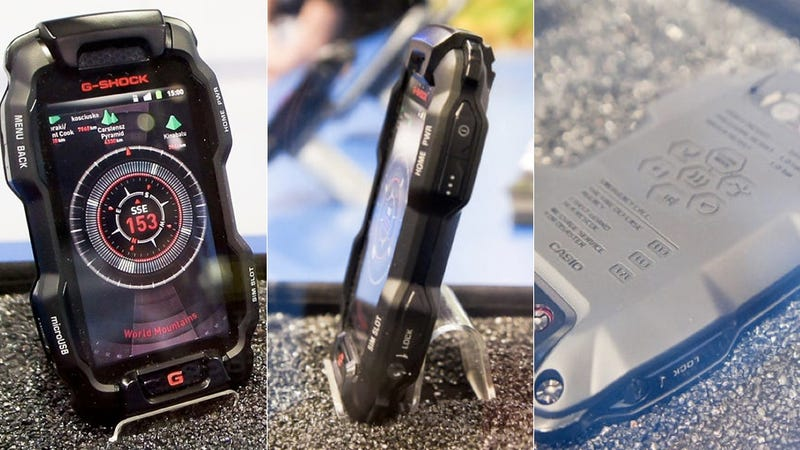 Hideous G-Shock Phone Is Too Durable to Be Destroyed