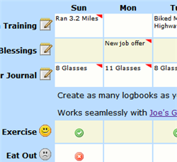 Track personal progress with Joe's Logbook