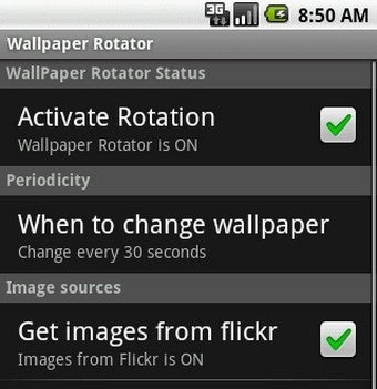 Wallpaper Rotator Swaps Android Wallpaper Automatically