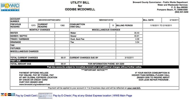 Breaking: Oddibe McDowell's Water Bill Is $88.61 This Month