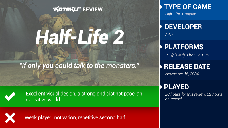 Half-Life 2: The Kotaku Review
