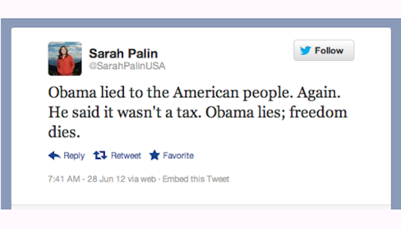 Sarah Palin Feels All the Feelings About the Supreme Court's Obamacare Ruling