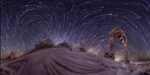 This 360° Panoramic Time-lapse Of The Night Sky Is Incredible
