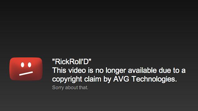 The Original RickRoll'd YouTube Video Has Been Taken Down