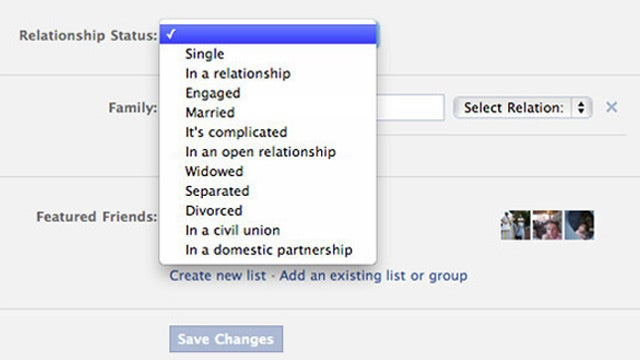 """Facebook Adds """"Civil Union"""" and """"Domestic Partnership"""" Relationship Status Options"""