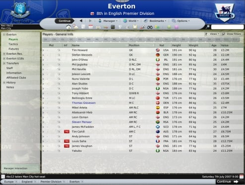 Everton FC Using Football Manager 2009 To Find Talent