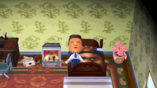 Nintendo President's Animal Crossing House Is Decorated With His Face