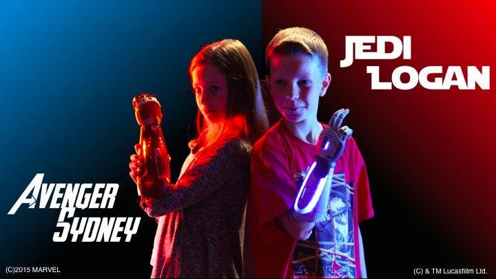 Una idea genial: crean prótesis de brazo para niños inspiradas en Marvel y Disney