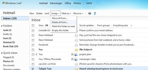 Hotmail Reboots with Inbox-Clearing Functions and Office Webapp Integration