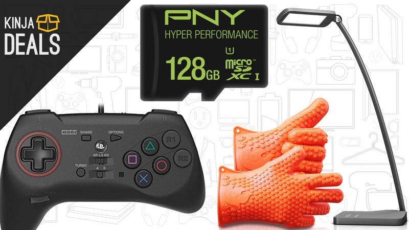 Saturday's Best Deals: PS4 Fighting Controller, MicroSD Cards, Desk Lamp, and More