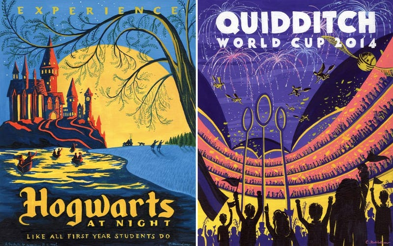 Harry Potter travel posters don't tout the rustic charms of Azkaban