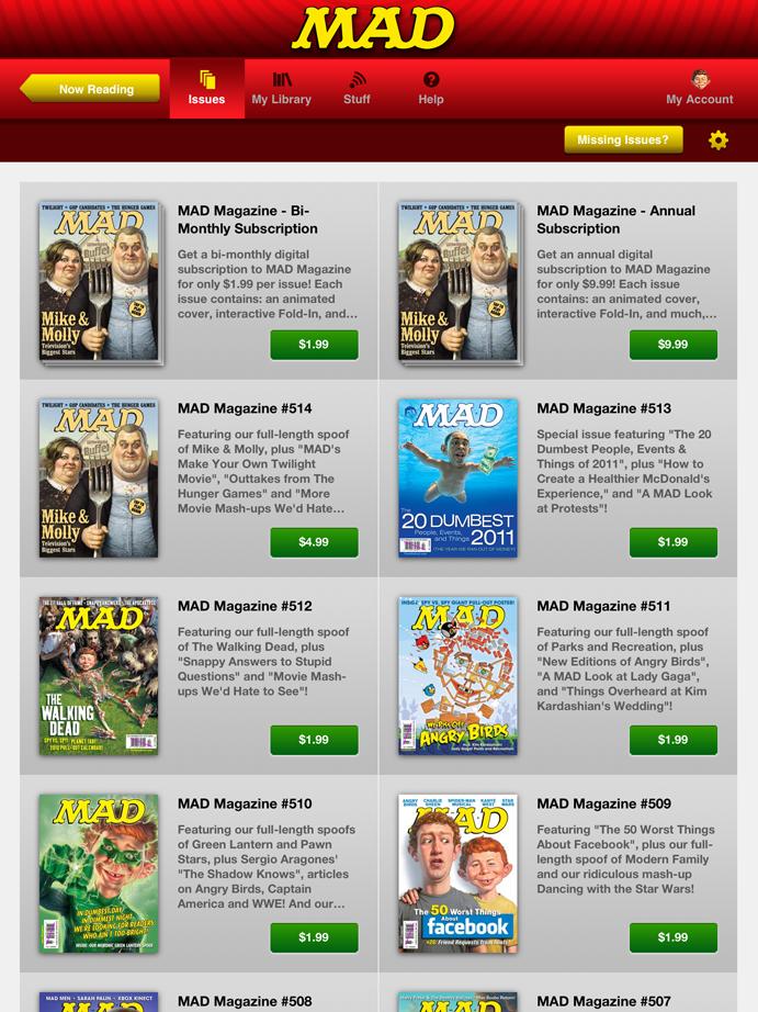 Mad Magazine App Gallery