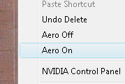 Toggle Vista's Aero Effects with a Right-Click