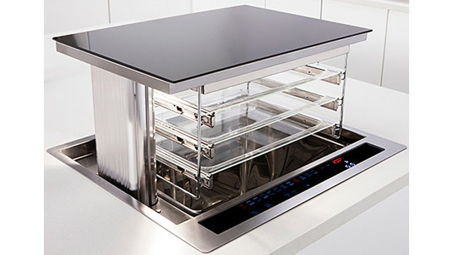 Space-Saving Oven Rises From Your Countertop