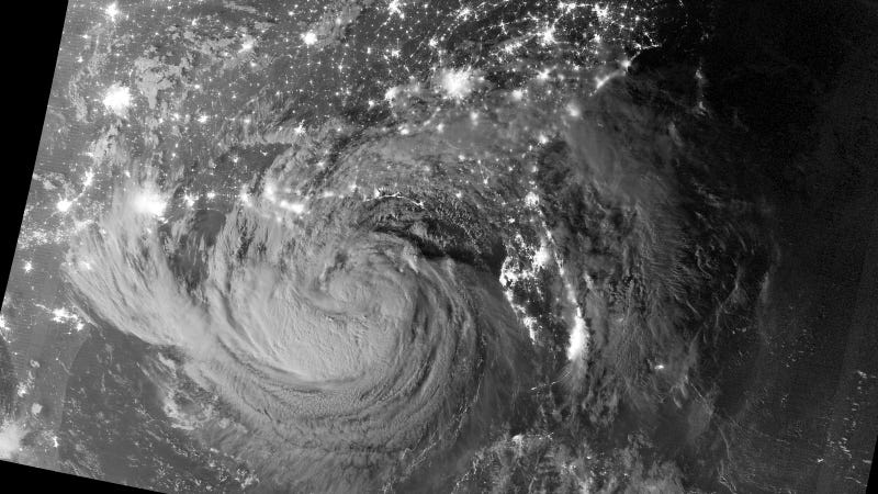 Amazing Image of Hurricane Isaac at Midnight