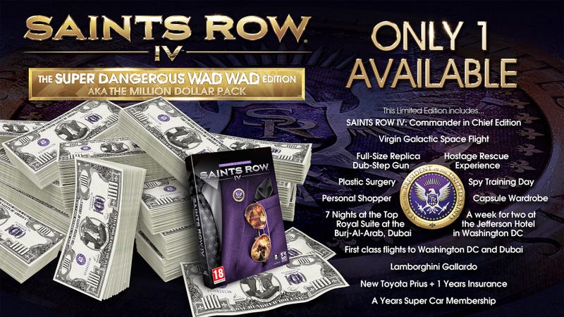 Very Special Edition of Saint's Row IV Costs $1,000,000