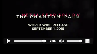 <i>Metal Gear Solid V</i> Will Be Out September 1