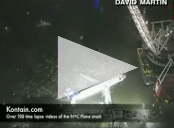 Timelapse Video: US Airways Airbus 320 Being Raised from the Depths of the Hudson River