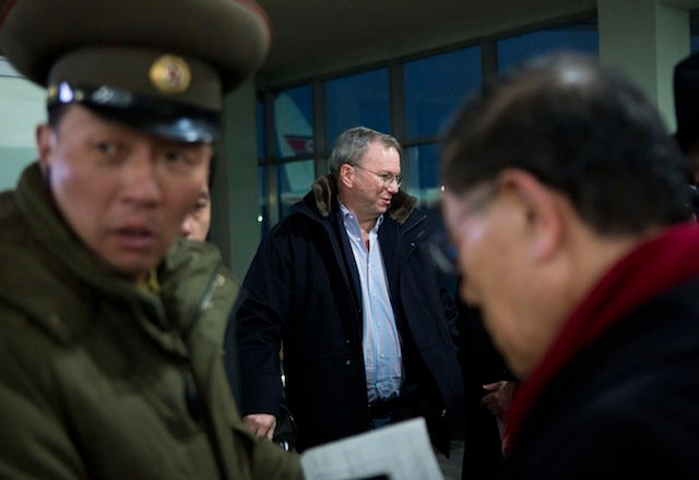 Google Chairman Arrives In North Korea to Examine North Korea's Non-Existent Social Media