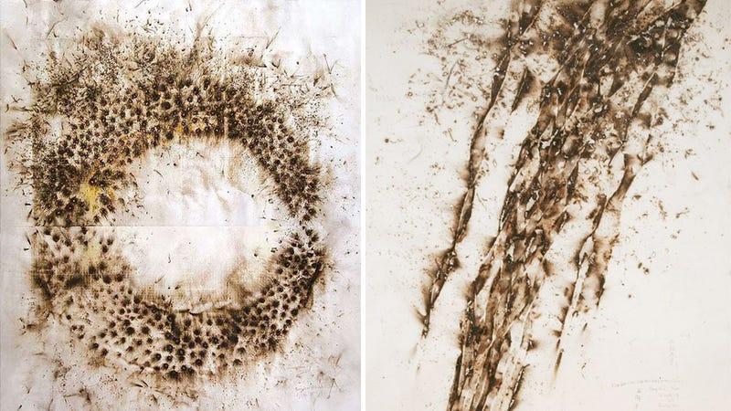Painting With Gunpowder Looks Way More Fun Than Using a Brush