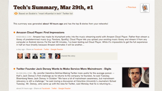 Summify Gives You 5 Articles to Read a Day Based on Your Internet Reading Habits