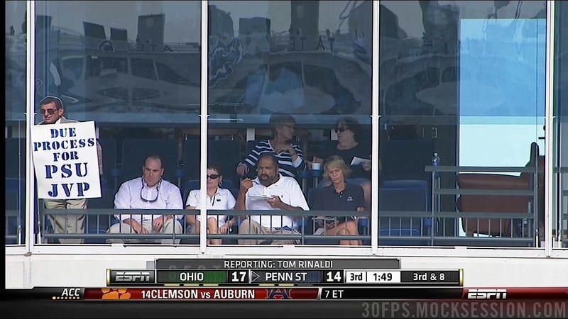 Franco Harris Brought A Cardboard Joe Paterno To Beaver Stadium Today