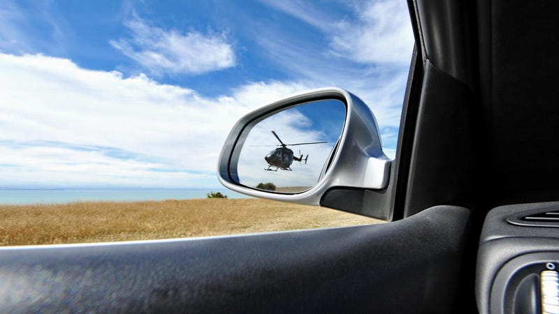 Here's Kim Dotcom's Car Being Chased By a Helicopter
