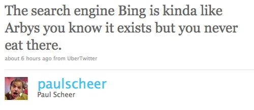 Has Anybody Used Bing to Find the Nearest Arby's? Whoa, Man. Whoa.