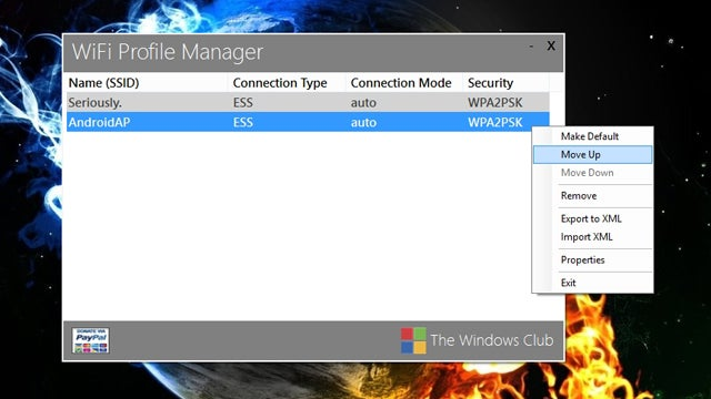 WiFi Profile Manager 8 Sets Your Preferred Networks in Windows 8