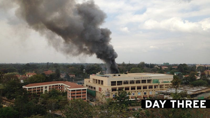 """Large Explosions"" Reported at Kenyan Mall During 3rd Day of Standoff"