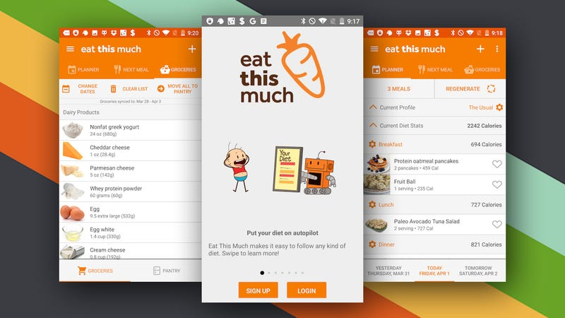 Eat This Much Brings Automatic Meal Planning to Android