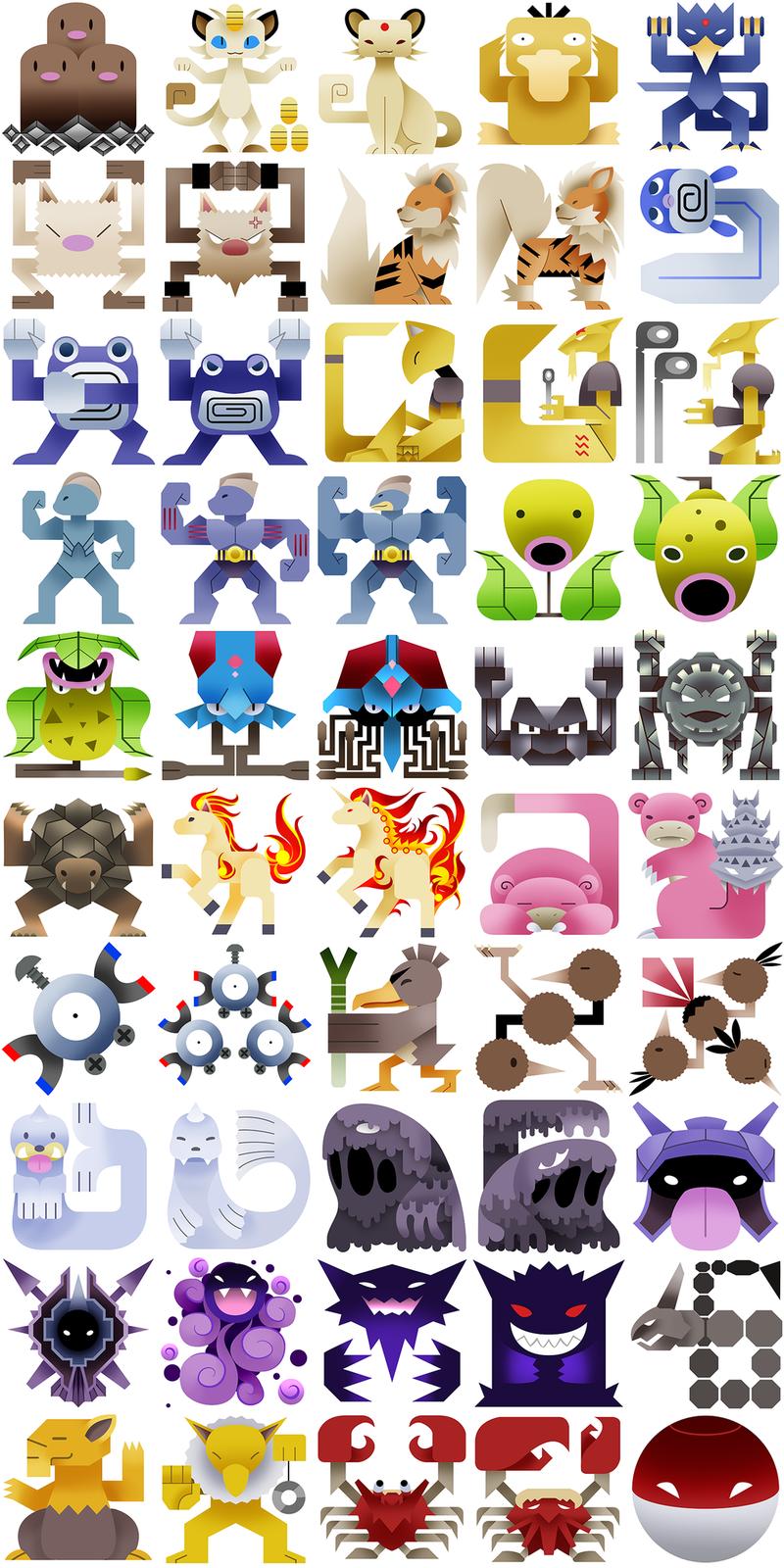 The Original 151 Pokemon, Redone As Monster Hunter Icons