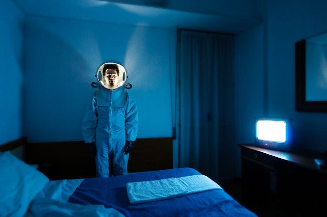 Photographs of lonely astronauts wandering the alien planet Earth