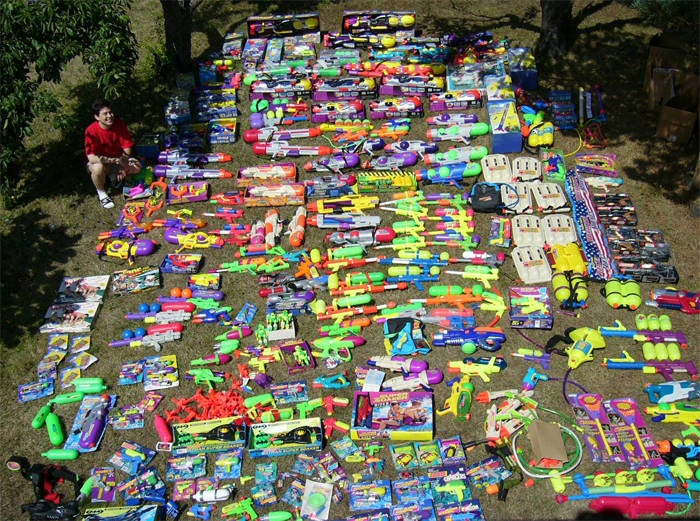 Squirt Gun Fanboy Collects Every Super Soaker Ever